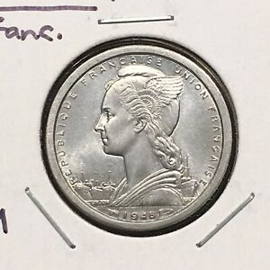 Click now to see the BUY IT NOW Price! FRENCH EQUATORIAL AFRICA 1948 FRANC