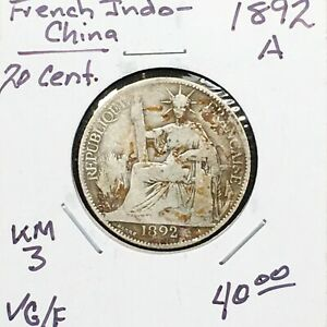 Click now to see the BUY IT NOW Price! FRENCH INDOCHINA 1892 A 20 CENT.