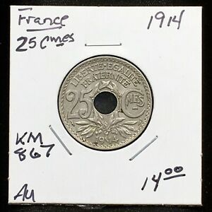 Click now to see the BUY IT NOW Price! FRANCE 1914 25 CENTIMES