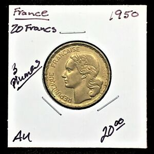Click now to see the BUY IT NOW Price! FRANCE 1950 20 FRANCS  3 PLUMES