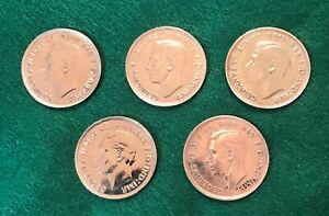 5 AUSTRALIAN PENNIES   VARIOUS DATES   ALL BRIGHT AND SHINY