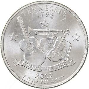 2002 D STATE QUARTER TENNESSEE BU CN CLAD US COIN
