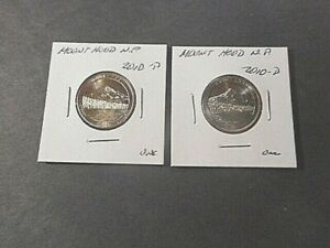 2 2010 AMERICA THE BEAUTIFUL QUARTERS  D&P  MOUNT HOOD. N.P. IN UNC. CONDITION