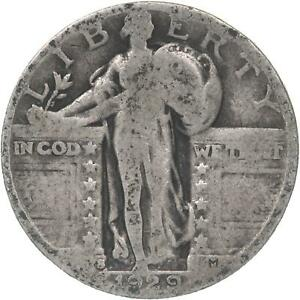 1929 S STANDING LIBERTY QUARTER 90  SILVER ABOUT GOOD AG