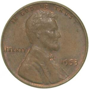 1953 LINCOLN WHEAT CENT ABOUT UNCIRCULATED PENNY AU