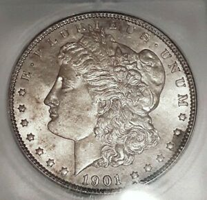 Click now to see the BUY IT NOW Price! 1901 P  MORGAN SILVER DOLLAR   UNCIRCULATED   ICG  MS61  COIN GUIDE @ $4250.00