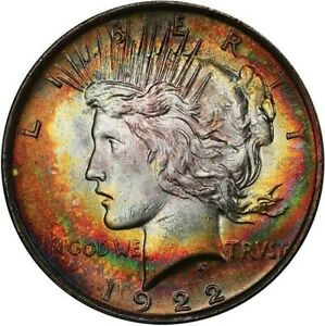 Click now to see the BUY IT NOW Price! 1922 S$1 PEACE SILVER DOLLAR PCGS MS64 TONED