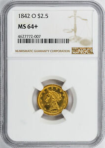 Click now to see the BUY IT NOW Price! 1842 O LIBERTY HEAD $2.5 NGC MS 64