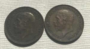 2 COIN GREAT BRITAIN SET: 1929 & 1932 FARTHINGS