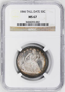 Click now to see the BUY IT NOW Price! 1846 LIBERTY SEATED 50C NGC MS 67