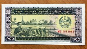 Click now to see the BUY IT NOW Price! 1979 LAOS 100 KIP BANKNOTE REPUBLIC PICK 30 UNC.