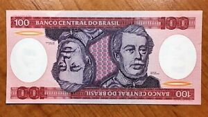 Click now to see the BUY IT NOW Price! 1981 BRAZIL 100 CRUZEIROS BANKNOTE PICK 198 UNC.
