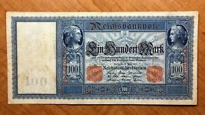 Click now to see the BUY IT NOW Price! 1910 GERMANY 100 MARK BANKNOTE RED SERIAL  PICK 42 NICE
