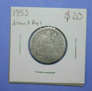 1853 SEATED LIBERTY QUARTER WITH ARROWS AND RAYS      [0120GCM]