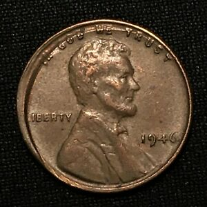 Click now to see the BUY IT NOW Price! 1946 US LINCOLN CENT  WHEAT PENNY    ERROR COIN   BROADSTRUCK OUT OF COLLAR   AU
