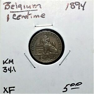 Click now to see the BUY IT NOW Price! 1894 BELGIUM 1 CENTIME COIN KM 34.1 XF