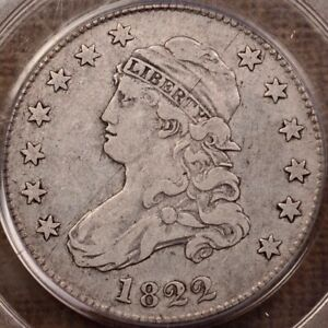 Click now to see the BUY IT NOW Price! 1822 25/50C ERROR FRAC B.2 R5 BUST QUARTER PCGS VF30    DAVIDKAHNCOINS