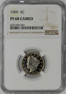 Click now to see the BUY IT NOW Price! 1909 LIBERTY NICKEL 5C 938963 39 PF68 CAMEO NGC