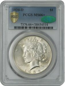Click now to see the BUY IT NOW Price! 1934 D PEACE DOLLAR $ MS66  SECURE PLUS PCGS   CAC 942063 9