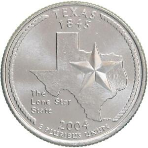 2004 D STATE QUARTER TEXAS CHOICE BU CN CLAD US COIN