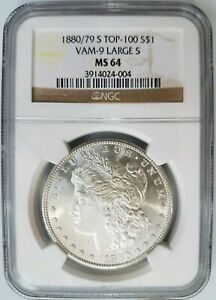 Click now to see the BUY IT NOW Price! 1880/79 S MORGAN SILVER DOLLAR NGC MS 64 VAM 9 LARGE S TOP 100 MINT ERROR COIN