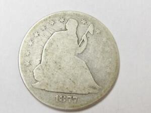 CIRCULATED 1877 S SILVER SEATED HALF  GREAT FOR THE SET BUY IT NOW