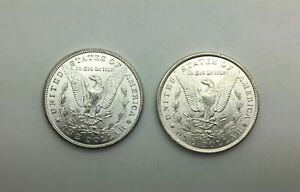 Click now to see the BUY IT NOW Price! 1898 O & 1900 O MORGAN DOLLAR  PAIR  CHOICE LUSTROUS GRADE FROM ROLLS NICE