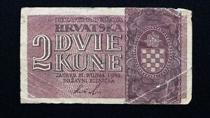 Click now to see the BUY IT NOW Price! 1942 CROATIA 2 KUNA BANKNOTE PICK 8   GERMAN OCCUPATION   WORLD WAR TWO