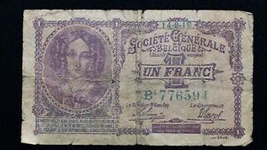 Click now to see the BUY IT NOW Price! 1918 BELGIUM 1 FRANC BANKNOTE PICK 86B   GERMAN OCCUPATION   WORLD WAR ONE