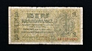 Click now to see the BUY IT NOW Price! 1942 UKRAINE 1 KARBOVANCOV BANKNOTE   PICK 49   GERMAN OCCUPATION WW2