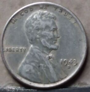 1943 D LINCOLN WHEAT CENT FREE AND PROMPT SHIPPING