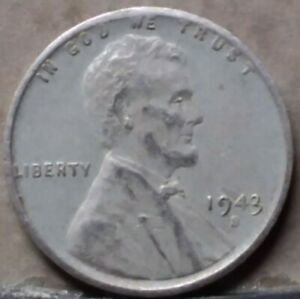 1943 S LINCOLN WHEAT CENT FREE AND PROMPT SHIPPING