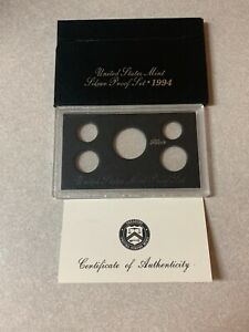 1994  SILVER  PROOF SET BOX AND LENS ONLY