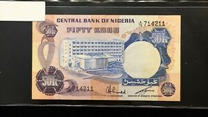 Click now to see the BUY IT NOW Price! 1973 NIGERIA 50 KOBO BANKNOTE   PICK 14