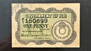 Click now to see the BUY IT NOW Price! GOVERNMENT OF FIJI 1942 1 ONE PENNY NOTE   CIRCULATED