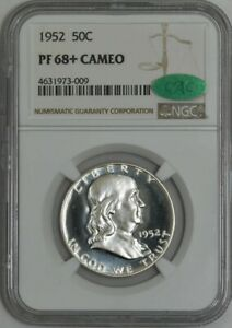 Click now to see the BUY IT NOW Price! 1952 FRANKLIN HALF 50C PF68  PR68  CAMEO NGC   CAC 942678 1