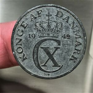 Click now to see the BUY IT NOW Price! 1942 H  N; S DENMARK 5 ORE COIN KING CHRISTIAN X KM 834A KEY DATE
