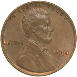 1950 LINCOLN WHEAT CENT ABOUT UNCIRCULATED PENNY AU