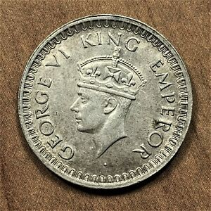 Click now to see the BUY IT NOW Price! 1943 B  DIAMOND INDIA BRITISH 1/2 RUPEE SILVER KM 522 KEY DATE      AU