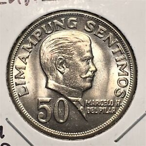 Click now to see the BUY IT NOW Price! 1974 PHILIPPINES 50 SENTIMOS COIN MARCELO H. DEL PILAR KM 200 BU