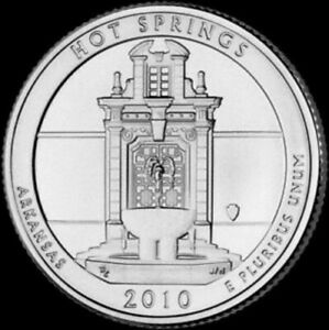 2010 D HOT SPRINGS ARKANSAS   NATIONAL PARKS   AMERICA THE BEAUTIFUL QUARTER