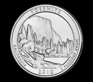 2010 D  YOSEMITE CALIFORNIA   NATIONAL PARKS   AMERICA THE BEAUTIFUL QUARTER