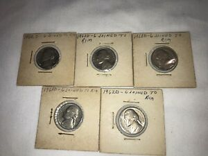 1962 1963 ERROR JEFFERSON NICKEL LOT OF 5 4