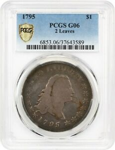 1795 FLOWING HAIR $1 PCGS GOOD 06  FLOWING HAIR 2 LEAVES  AFFORDABLE TYPE COIN