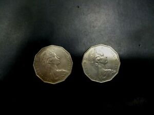 AUSTRALIA COIN LOT OF 50 CENTS 1981 1984    1560