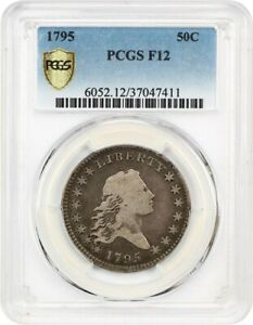 1795 50C PCGS F12   DESIRABLE 2 YEAR TYPE COIN   BUST HALF DOLLAR