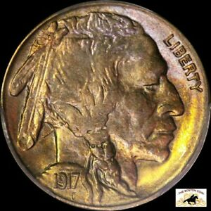 Click now to see the BUY IT NOW Price! 1917 S BUFFALO NICKEL PCGS MS 65 TONED