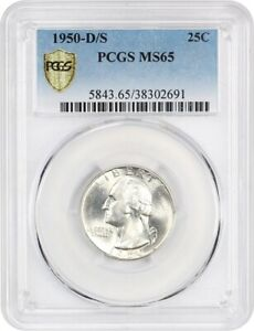 Click now to see the BUY IT NOW Price! 1950 D/S 25C PCGS MS65    VARIETY   WASHINGTON QUARTER    VARIETY