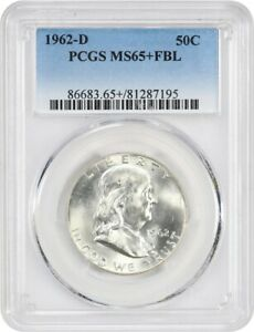 Click now to see the BUY IT NOW Price! 1962 D 50C PCGS MS65  FBL   FRANKLIN HALF DOLLAR   FLASHY
