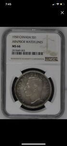 Click now to see the BUY IT NOW Price! CANADA 1950 ARNIPOR SILVER DOLLAR NGC MS 66 TOP POP